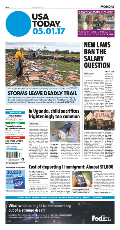 05/01/2017 Issue of USA TODAY_THUMBNAIL