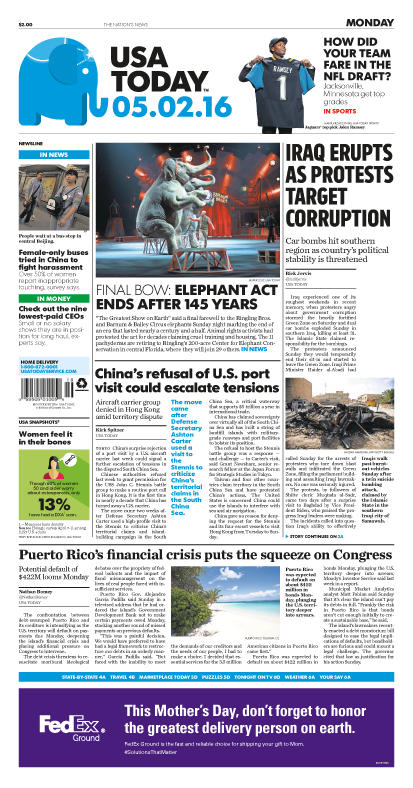 05/02/2016 Issue of USA TODAY