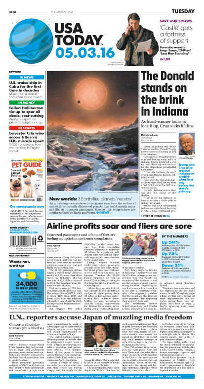 05/03/2016 Issue of USA TODAY