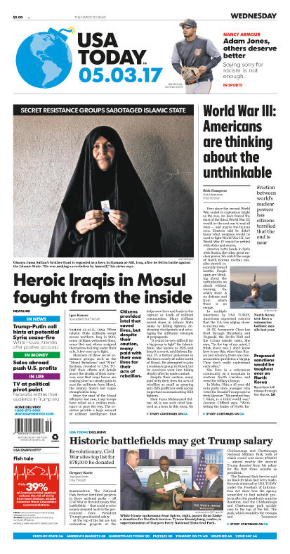05/03/2017 Issue of USA TODAY_THUMBNAIL