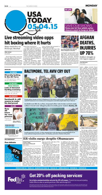05/04/2015 Issue of USA TODAY