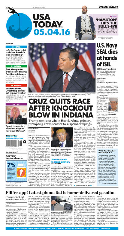 05/04/2016 Issue of USA TODAY