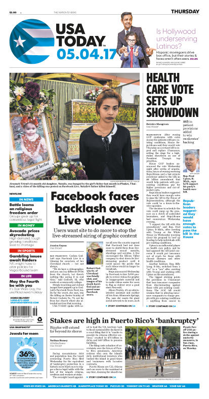 05/04/2017 Issue of USA TODAY_THUMBNAIL