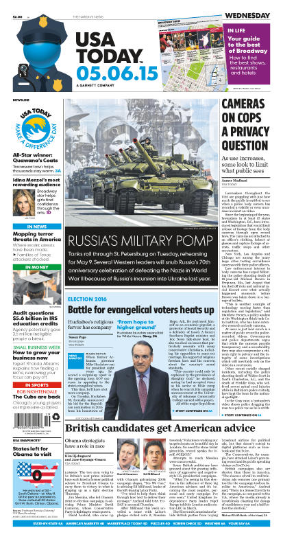 05/06/2015 Issue of USA TODAY
