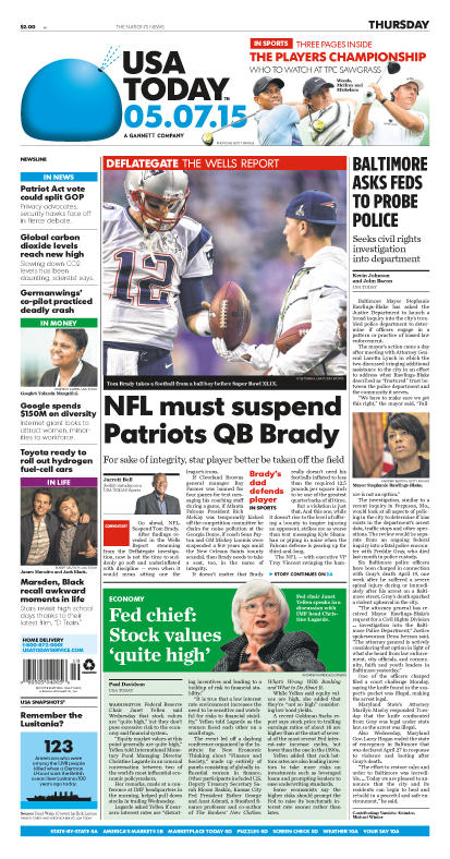 05/07/2015 Issue of USA TODAY
