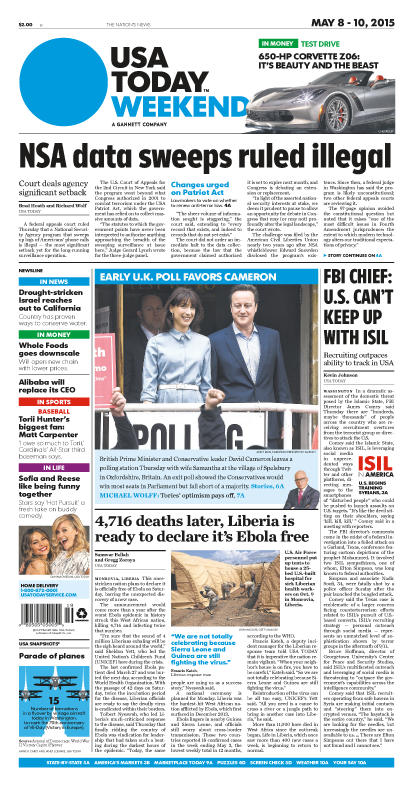 05/08/2015 Issue of USA TODAY