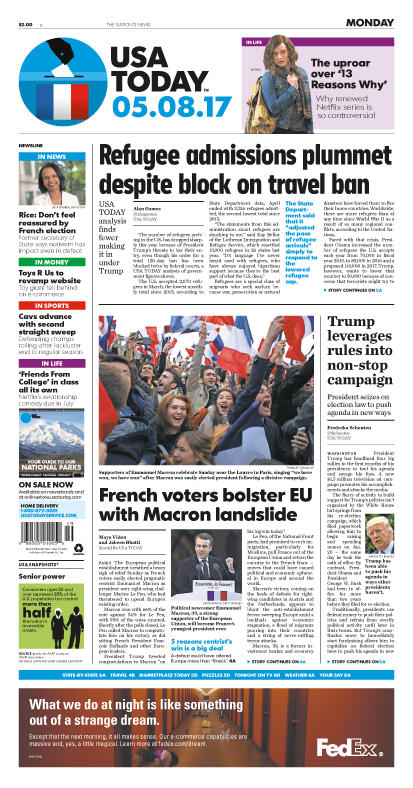 05/08/2017 Issue of USA TODAY