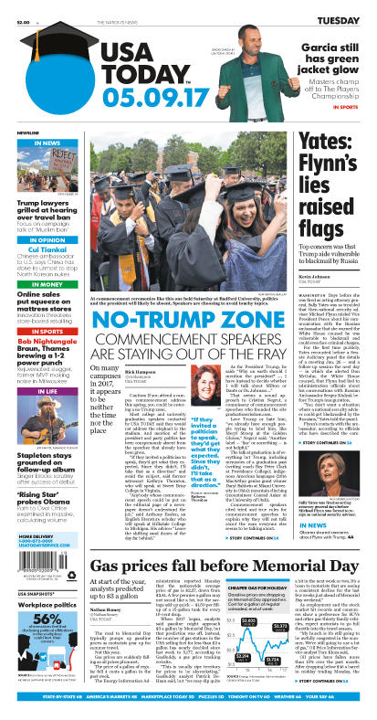 05/09/2017 Issue of USA TODAY MAIN