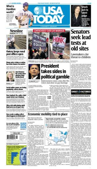 05/10/2012 Issue of USA TODAY