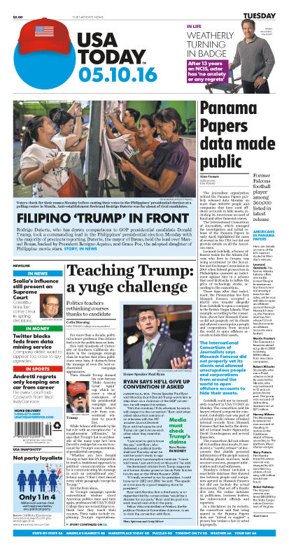 05/10/2016 Issue of USA TODAY