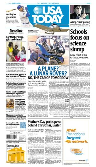 05/11/2012 Issue of USA TODAY