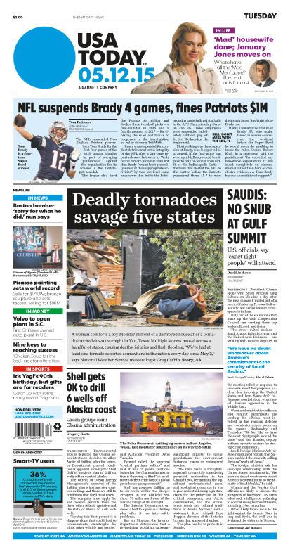 05/12/2015 Issue of USA TODAY
