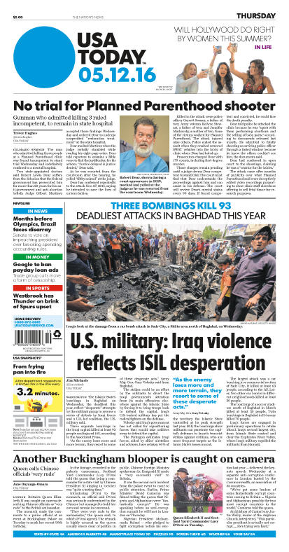 05/12/2016 Issue of USA TODAY