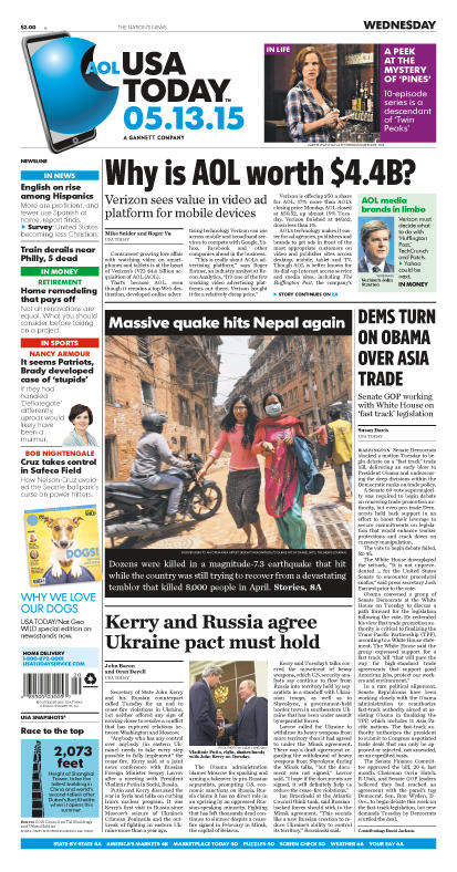 05/13/2015 Issue of USA TODAY