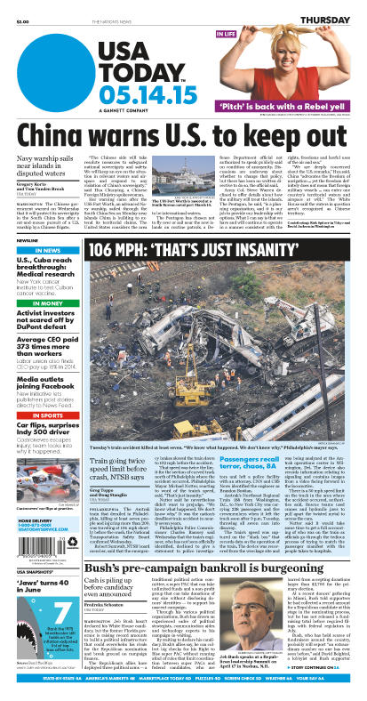 05/14/2015 Issue of USA TODAY