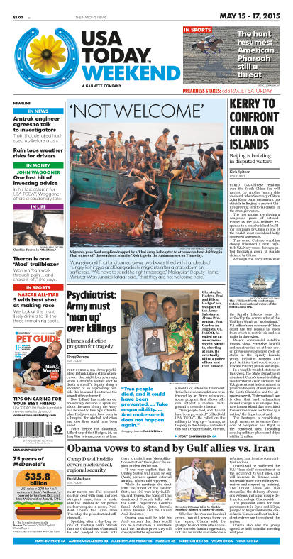 05/15/2015 Issue of USA TODAY