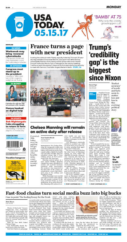 05/15/2017 Issue of USA TODAY