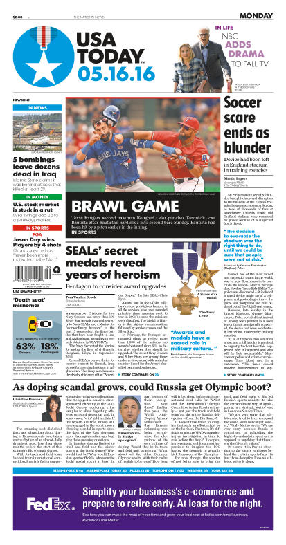 05/16/2016 Issue of USA TODAY
