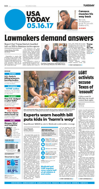 05/16/2017 Issue of USA TODAY MAIN