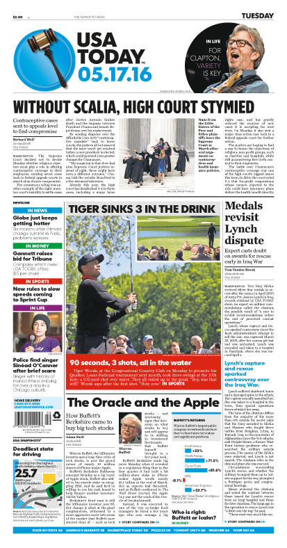 05/17/2016 Issue of USA TODAY