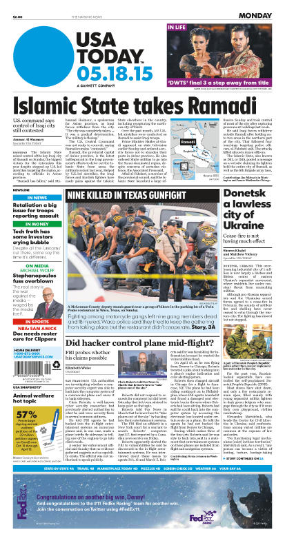 05/18/2015 Issue of USA TODAY