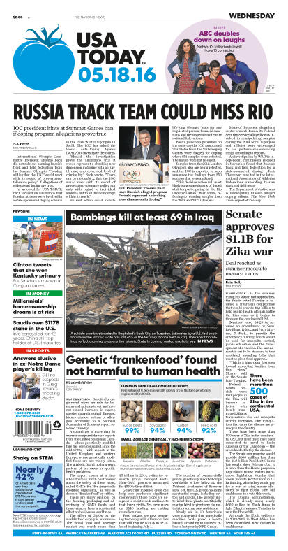05/18/2016 Issue of USA TODAY