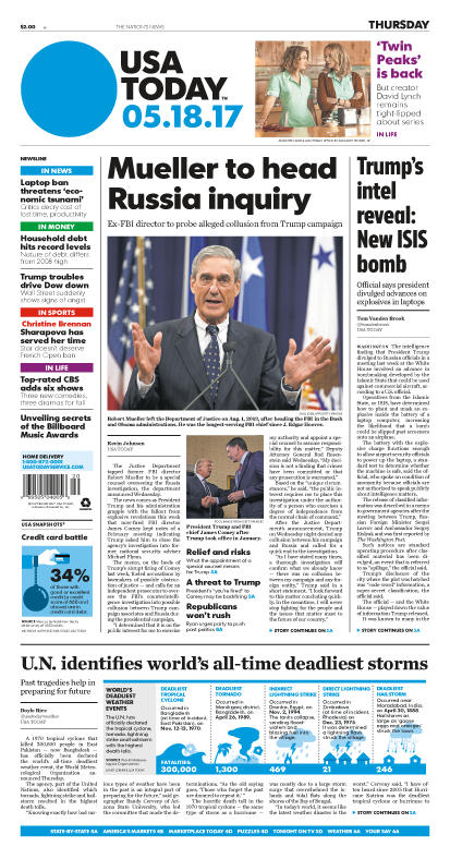05/18/2017 Issue of USA TODAY MAIN