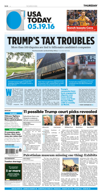 05/19/2016 Issue of USA TODAY