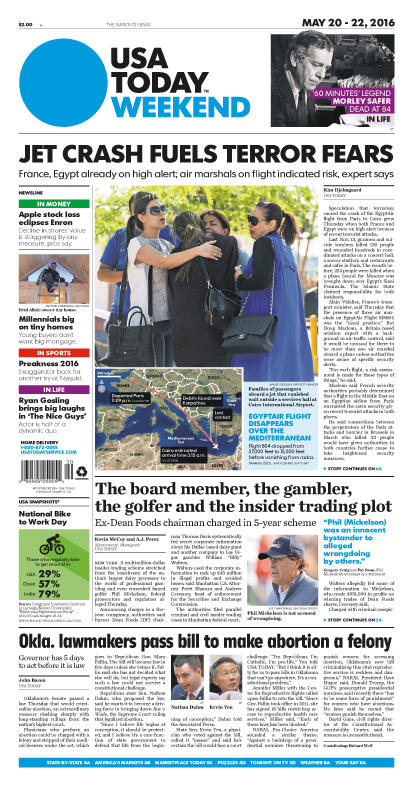 05/20/2016 Issue of USA TODAY
