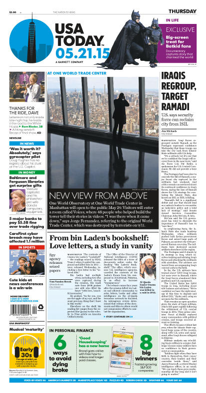 05/21/2015 Issue of USA TODAY
