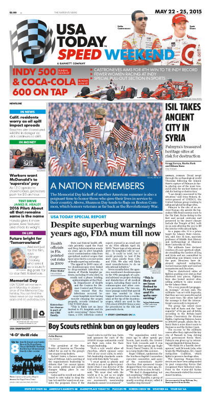 05/22/2015 Issue of USA TODAY