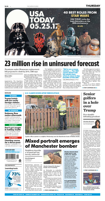 05/25/2017 Issue of USA TODAY MAIN