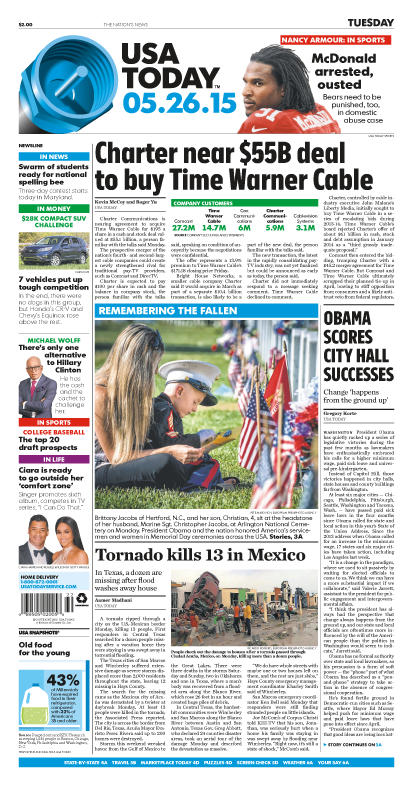 05/26/2015 Issue of USA TODAY