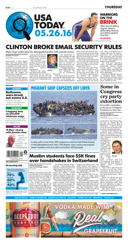 05/26/2016 Issue of USA TODAY