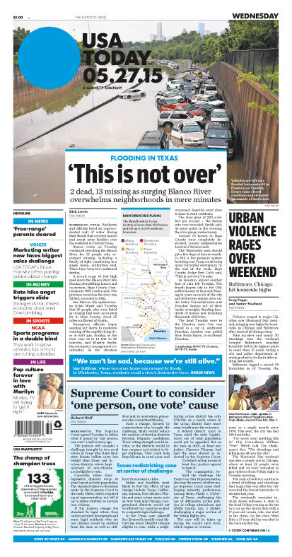 05/27/2015 Issue of USA TODAY