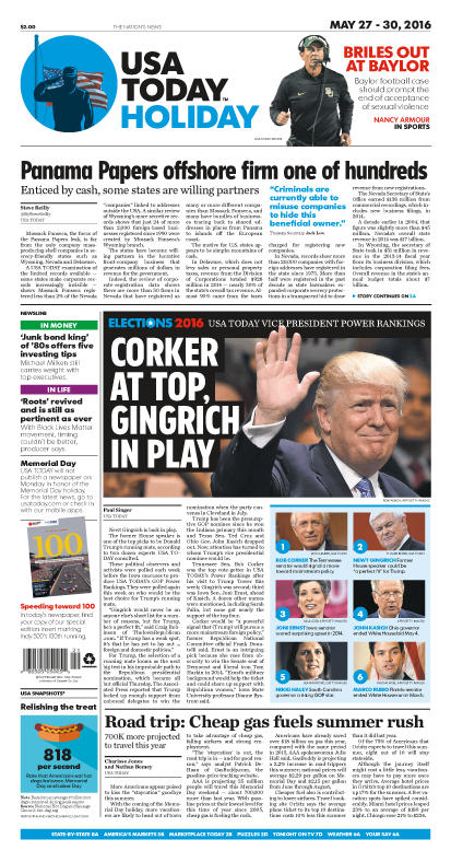 05/27/2016 Issue of USA TODAY