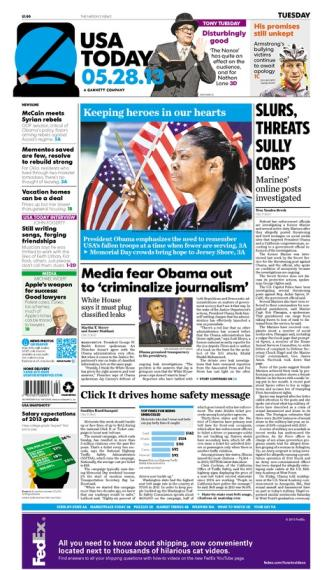 05/28/2013 Issue of USA TODAY