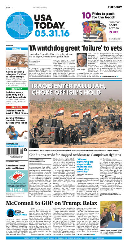 05/31/2016 Issue of USA TODAY
