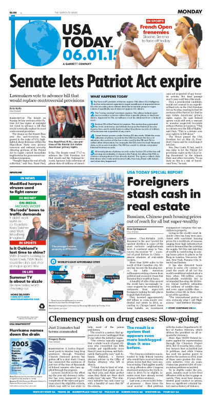 06/01/2015 Issue of USA TODAY