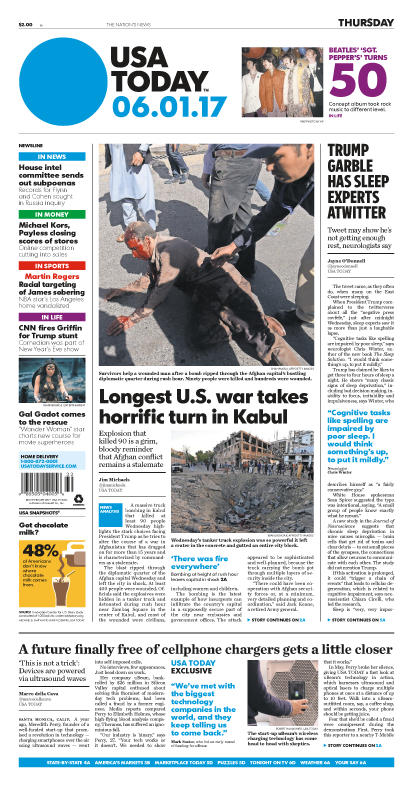 06/01/2017 Issue of USA TODAY MAIN