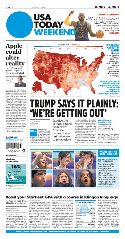 06/02/2017 Issue of USA TODAY MAIN