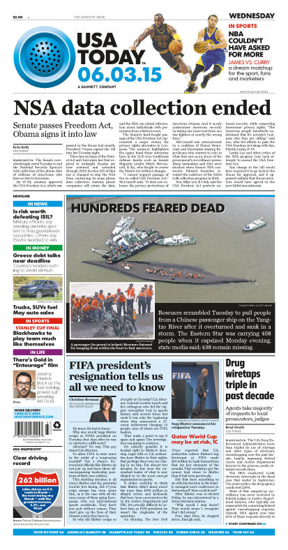 06/03/2015 Issue of USA TODAY