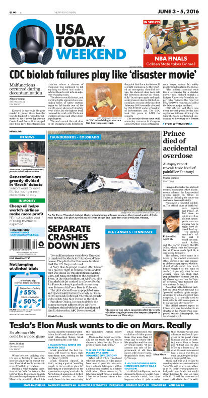 06/03/2016 Issue of USA TODAY