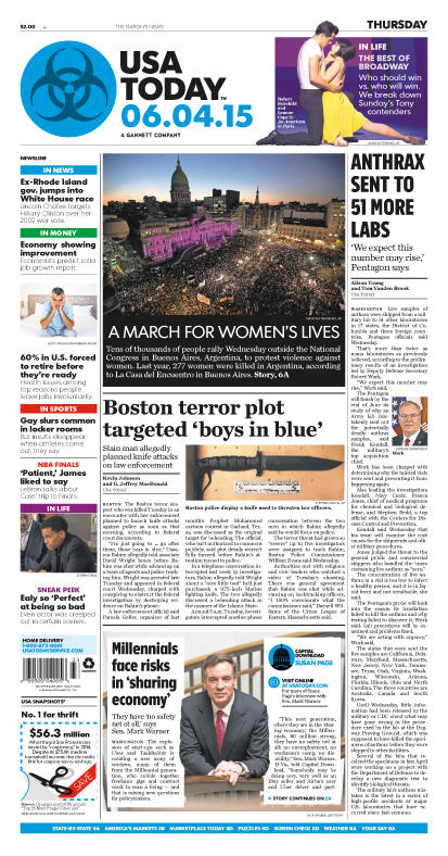 06/04/2015 Issue of USA TODAY