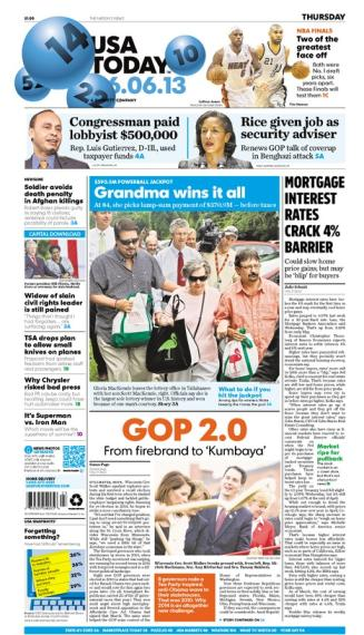 06/06/2013 Issue of USA TODAY