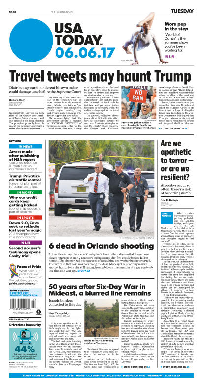 06/06/2017 Issue of USA TODAY