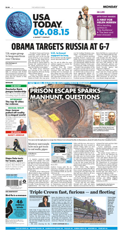 06/08/2015 Issue of USA TODAY