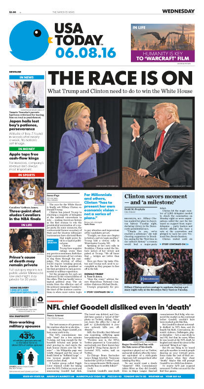 06/08/2016 Issue of USA TODAY