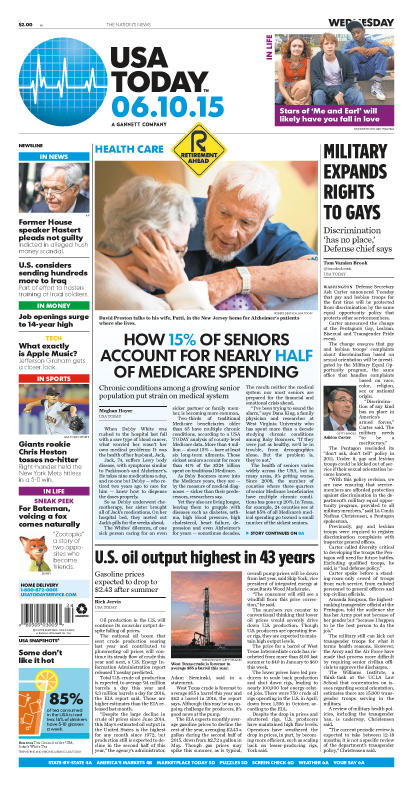 06/10/2015 Issue of USA TODAY