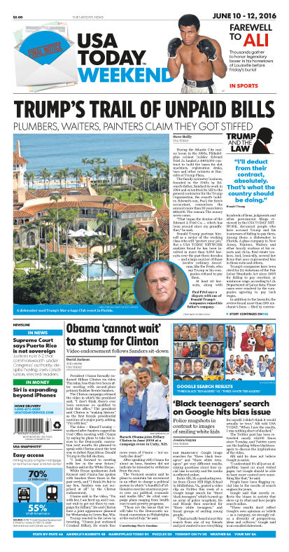 06/10/2016 Issue of USA TODAY